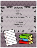 Reader's Notebook Tabs for Lucy Calkins Reading Units of Study