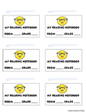 Reader's Notebook labels- emoji theme