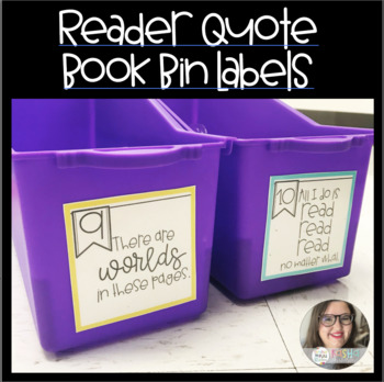 Reader's Quotes Book Bin Labels