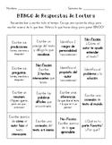 Reader's Response BINGO-Spanish & English