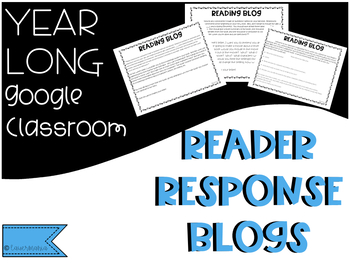 Reader Response Journal Prompts- Google Classroom- print and digital files