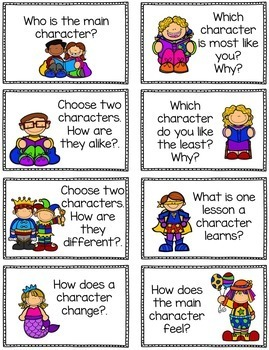 Reader's Response Cards and Graphic Organizer Sheets