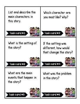 Reader's Response Comprehension Task Cards