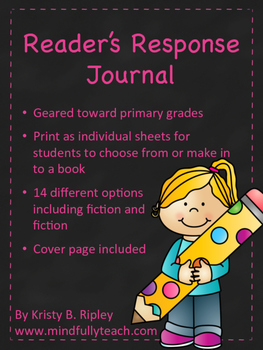 Reader's Response Journal/Sheets Grades K-3