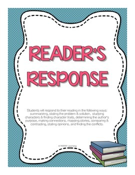Reader's Response Journal - Writing About Reading