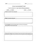 Reader's Response Organizer and Rubric 7th/8th grade