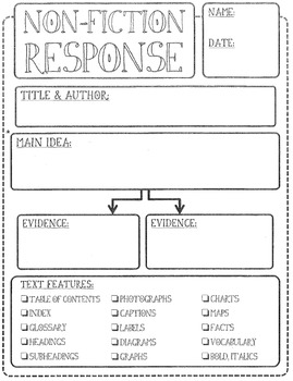 Reader's Response Printables - fiction/nonfiction