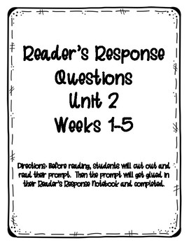 Reader's Response Questions for Wonders Unit 2 Grade 3