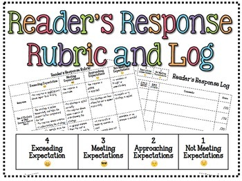 Reader's Response Rubric and Log