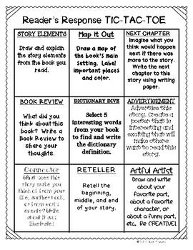 Reader's Response Tic-Tac-Toe