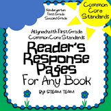 First Grade Common Core Standards Reader's Response Pages