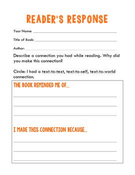 Reader's Responses - Great for Reading Log!