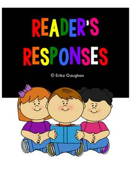 Reader's Responses - Great for Reading Log!