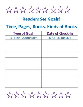 Reader's Set Goals