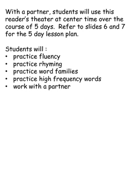 Reader's Theater 5 Day Lesson Plan