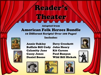 Reader's Theater AMERICAN FOLK HEROES Bundled Set!  Great for American History!