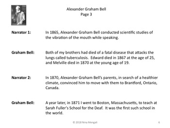 Reader's Theater Alexander Graham Bell - Inventor of the Telephone!