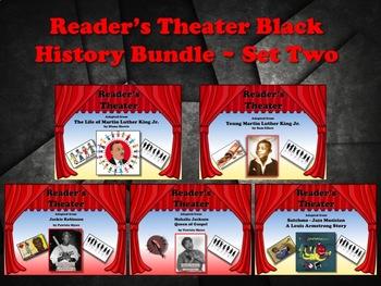 Reader's Theater Black History Bundle Set 2 - 5 Scripts - Great Non-Fiction!