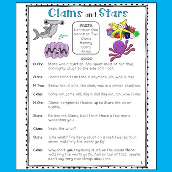 Reader's Theater: Clams and Stars - An Undersea Adventure