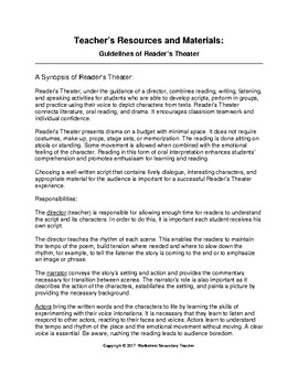 Reader's Theater Guidelines Lesson
