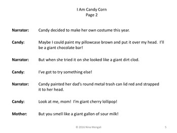 Reader's Theater I AM CANDY CORN: A HALLOWEEN STORY!  Great Fun!