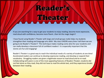 Reader's Theater JOHNNY APPLESEED - The Story of John Chapman! Great for APPLES!