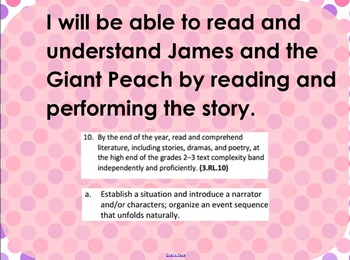 Reader's Theater James and the Giant Peach Smartboard Part 1