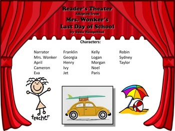 Reader's Theater MRS. WONKER'S LAST DAY OF SCHOOL! - Great for End of Year!!