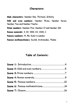 Reader's Theater: Numbers. A Class Play