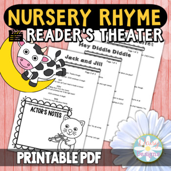Reader's Theater - Nursery Rhyme Theme Scenes and Skits