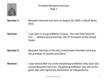 Reader's Theater PRESIDENT BENJAMIN HARRISON 23rd US President - Nonfiction!
