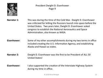 Reader's Theater PRESIDENT DWIGHT D. EISENHOWER 34th US President - Nonfiction!