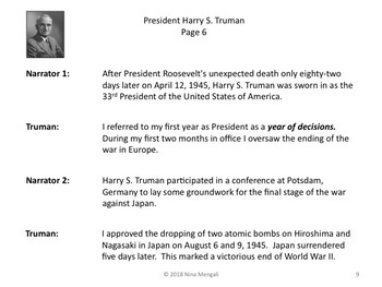 Reader's Theater PRESIDENT HARRY S. TRUMAN 33rd US President - Great Nonfiction!