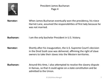 Reader's Theater PRESIDENT JAMES BUCHANAN 15th US President - Great Nonfiction!