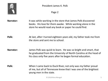 Reader's Theater PRESIDENT JAMES K. POLK 11th US President - Great Nonfiction!