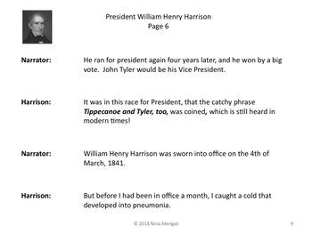 Reader's Theater PRESIDENT WILLIAM HENRY HARRISON 9th US President - Nonfiction!