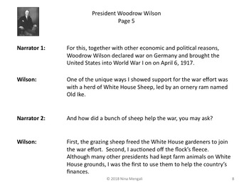 Reader's Theater PRESIDENT WOODROW WILSON 28th US President - Great Nonfiction!