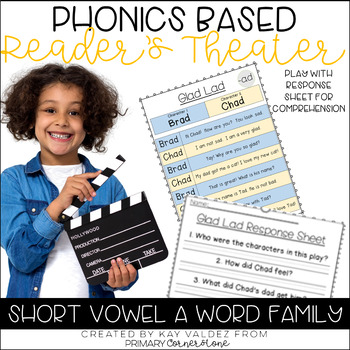 Reader's Theater-Phonics Centers-Short Vowel A-Word Families