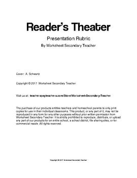 Reader's Theater  Presentation Rubric