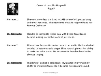 Reader's Theater QUEEN OF JAZZ: ELLA FITZGERALD - Great Non-Fiction!