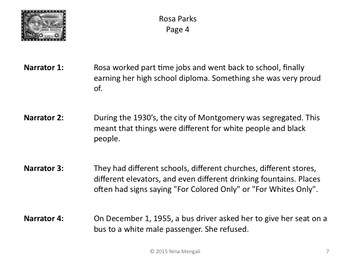 Reader's Theater Rosa Parks - Great for Civil Rights and Black History!