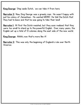 Reader's Theater Script:  Colonization in America (Colonial America)