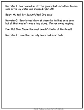 Reader's Theater Script:  How the Bear Lost Its Tail (Native American Legend)