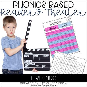 Reader's Theater Script-Phonics Centers-L Blends-Fluency Practice-