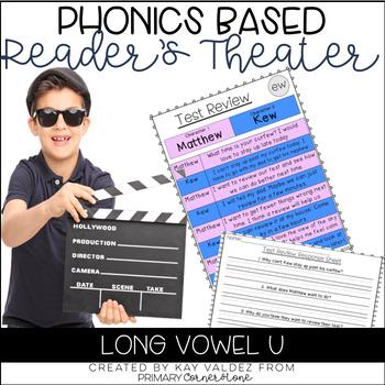 Reader's Theater Script-Phonics Centers-Long Vowel U-Fluency Practice