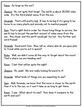 Reader's Theater Script:  The Sun (Facts About the Sun)