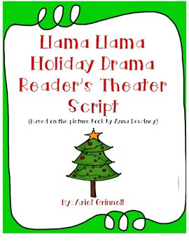 "Reader's Theater Script for ""Llama Llama Holiday Drama"""