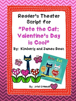 """Reader's Theater Script for """"Pete the Cat: Valentine's Day is Cool"""""""