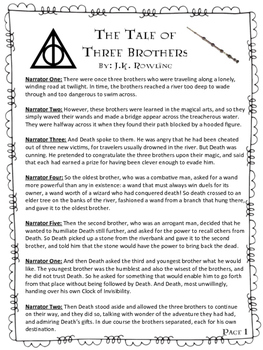 "Reader's Theater Script for Two Stories from the ""Tales of Beedle the Bard"""