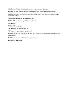 Reader's Theater Script of The Rainbow Fish